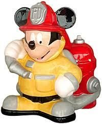Mickey Mouse Firefighter cookie jar