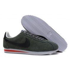 check out 75c5b d8949 Køligt Nike Cortez V1 Mørkgrøn Grå Sort Herre Skobutik   Fantastisk Nike  Cortez V1 Skobutik   Nike Skobutik Billige   denmarksko.com