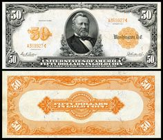 US 50 Dollar Note Series of 1913 Serial# Signatures: Parker / Burke Portrait: Ulysses S. Thousand Dollar Bill, Money Template, Make Money From Pinterest, Money Notes, Rare Coins Worth Money, Silver Eagle Coins, Old Money, Cash Money, Coin Worth
