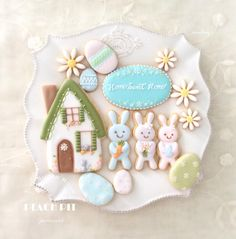 Home Sweet Home cookie set by Micaling @ Peach Pit