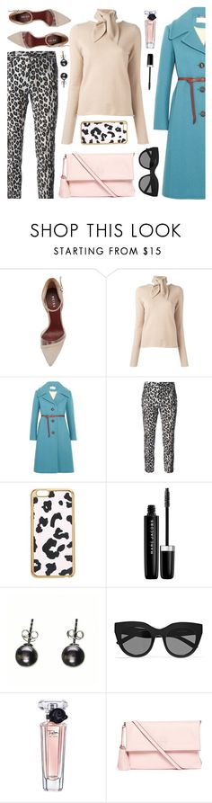 """My Blue Coat"" by ivansyd ❤ liked on Polyvore featuring Chloé, Alberto Biani, Miss Selfridge, Marc Jacobs, Black, Le Specs, Lancôme, Tory Burch, bluecoat and nudesweater"