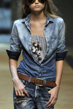 Denim ! #denim #lace #leather #shirt #short #love #box #box #shirt #jacket #short