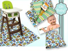 Don't want to wash the floor every single time Baby eats?  Stitch up this Splat Mat with a Carrying Case from Sew4Home.