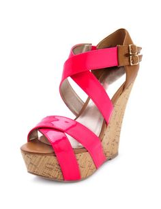 like the new trend with the straps going down over the wedge.   Charlotte Russe