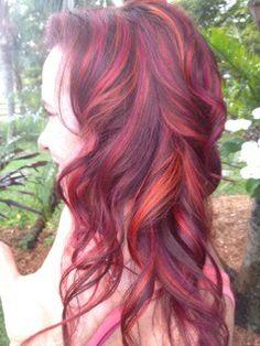 Pravana vivids - orange with magenta/orchid mixed Pravana Hair Color, Hair Skin Nails, Hair Colours, Awesome Hair, Hair Dos, Girly Stuff, Beautiful Eyes, Girly Girl, Color Mixing