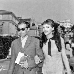 strangewood:    Jean-Luc Godard and Anna Karina at the 1963 Cannes Film Festival.