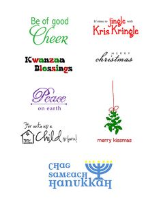 8 #free sentiments #download #Holiday #Christmas #Kwanzaa #Hanukkah
