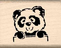 Panda Rubber Stamp  34 inch x 114 inches ** You can find more details by visiting the image link.
