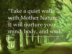 """Anthony Douglas Williams: """"Take a quiet walk with Mother Nature. It will nurture your mind, body, and soul."""""""