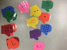 Mitten Math Match with Creative Shapes Ect! #Learn #Math #Teach #Winter #Mitten
