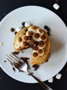 Vegan Smores Pancakes | minimalist baker #minimalistbaker