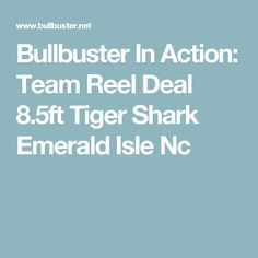 Bullbuster In Action: Team Reel Deal 8.5ft Tiger Shark Emerald Isle Nc