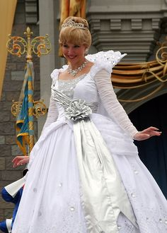 Cinderella - This must be her winter dress?  I've never seen her in white before!  Beautiful!