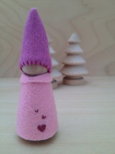 Wooden Peg Doll Fairy Gnome  Waldorf and Montessori by SepAndAug, €5.23