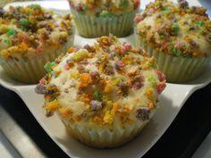 Fruit Loops cupcake