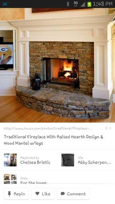 Hearth idea: Like the stone, but would want a smooth top