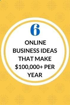Six Figure Online Business Ideas Online Business Business And