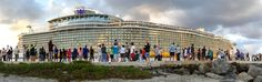 https://flic.kr/p/NW1srk | Harmony of the Seas - Port Everglades first cruise | iPhone6 panorama taken today 05Nov2016 World's largest cruise ship, Royal Caribbean's Harmony of the Seas, sets sail on first cruise from Port Everglades/Fort Lauderdale, Florida. photographed at Dania Beach Jetties.