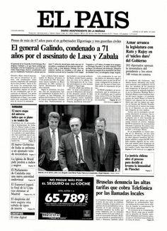 El coronel Galindo, condenado por el asesinato de Lasa y Zabala. El País, Madrid, 27 abril 2000