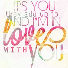 And I'm in love with you And all your little things ~ One Direction <3