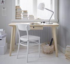 LISABO bureau | #IKEA #IKEAnl #interieur #essenfineer #berken #duurzaam #slijtvast #wit