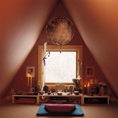 Sarah Susanka spent a lot of time in her attic meditation space before she launched the Not So Big House movement.