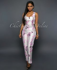 Chic Couture Online - Calvin Silver Pink Floral Two Piece Pants Set, (http://www.chiccoutureonline.com/calvin-silver-pink-floral-two-piece-pants-set/)