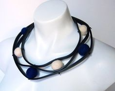 avant garde jewelry  rubber necklace rubber jewelry by frankideas, $55.00
