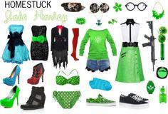 """Homestuck Fashion: Jade Harley"" by khainsaw on Polyvore"