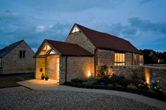 Renovated Brotherton Barn in Pusey, Oxfordshire by The Anderson Orr Partnership
