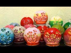 Резные свечи с весенне-летней тематикой. - YouTube