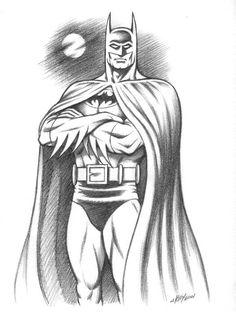 batman drawing superhero sketches superheroes marvel drawings pencil easy cartoon comic comics uploaded user