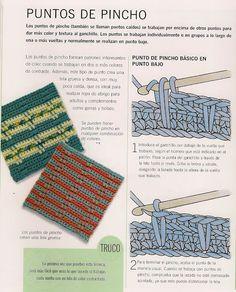 Patrones Crochet: Punto Pincho de Crochet Tutorial