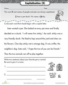 Capitalizing Proper Nouns Worksheet | Englishlinx.com Board ...