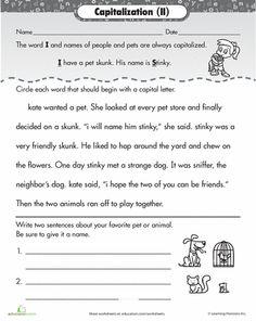 proper nouns worksheet | Have Fun Teaching