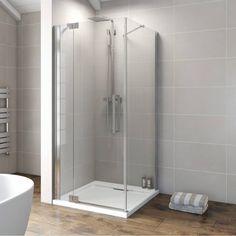 V8+ Frameless Hinged Shower Enclosure 760 LH