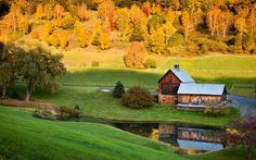Sleepy Hollow Farm, Vermont -  18 Beautiful Photos of Fall From Around The World           | Travel + Leisure
