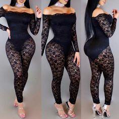 a60f1e7d3a4 Stylish Slash Neck Pierced Lace Jumpsuit