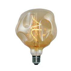 Zlaté LED tvoria LED žiarovky so zlatistým efektom skla. Coffee Shop, Designer, Light Bulb, Lighting, Elegant, Metal, Vintage, Home Decor, Cable