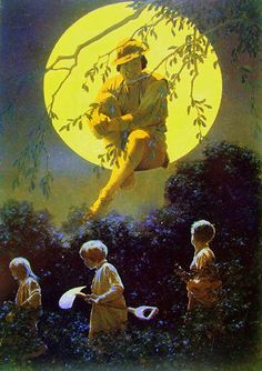 Last days of summer…until the fireflies come back again.  Dream Days, a collection of stories by Kenneth Grahame, 1902. Ilustrations by Maxfield Parrish