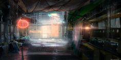 Cyberpunk Atmosphere, 25-6-14_Experimentation mehhh by BlakeZ on deviantART