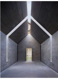 Stone House by John Pawson. (invert & add in 'hampton's cedar shingle house' style for Rockaway modular unit project)
