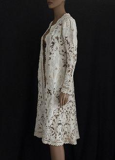 Battenburg lace coat