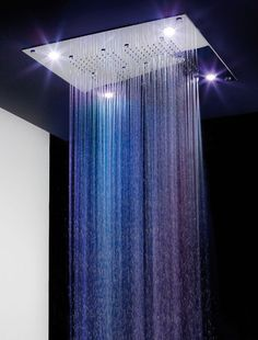 Ceiling shower head WITH lights.