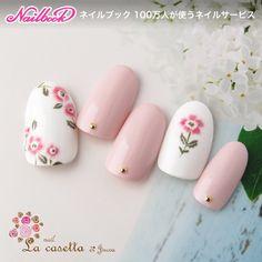 Korean Nail Art, Korean Nails, Flower Nail Designs, Flower Nail Art, Garra, Gel Manicure, Pedicure, Nail Art Techniques, Nail Trends