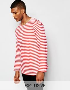 Reclaimed+Vintage+Military+Striped+Long+Sleeve+T-Shirt