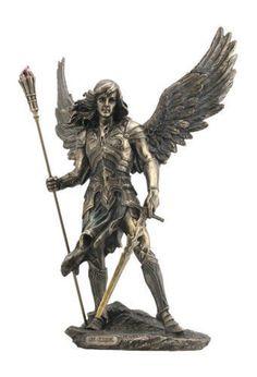"""13"""" Archangel Sariel Statue Figurine Figure Religious Saint Angel Santo Suriel"""
