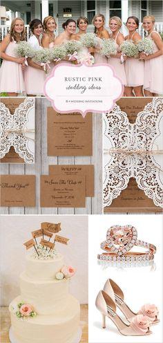 Rustic pink wedding ideas from B Wedding Invitations. http://www.weddingchicks.com/2015/02/26/rustic-wedding-inspiration-b-wedding-invitations