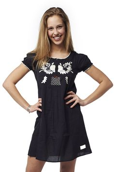 #oddmolly #embroidered black dress Odd Molly, Warm Weather, Tunic Tops, Slip On, How To Wear, Black, Dresses, Women, Fashion