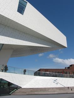 """Facade of """"The Eye museum"""" (film museum), Amsterdam. By Delugan Meissl Architects, Vienna. #greetingsfromnl"""